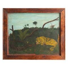 Tiger Folk Art Painting