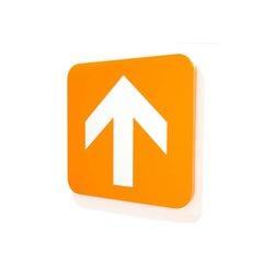 """Untitled [Arrow up - Orange]"""