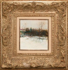 """1940 - Rolling Hills Winter"" Framed Orig. Mixed Media on Board by Tom Perkinson"