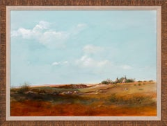 """""""Plains Indian Camp"""" Large Framed Original Mixed Media on Paper by Tom Perkinson"""