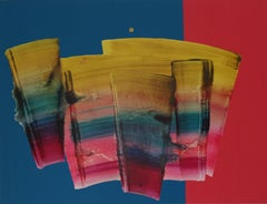 Untitled 27 -  Contemporary Abstract and Colorful Painting, Textile Lightness