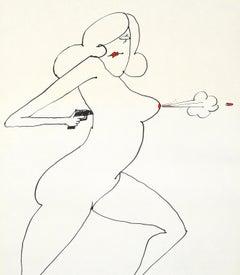 Tomi Ungerer Nude Gun (Tomi Ungerer underground sketchbook)