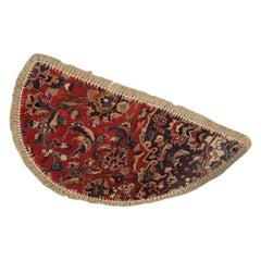 Traditional Carpet Door Mat, Refurbished Handmade Wool Entrance Way Mat