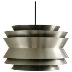 Trava Pendant Light in Spun Aluminium by Carl Thore, Sweden, 1960s