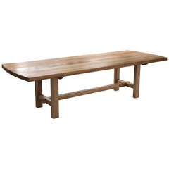 Trestle Leg Dining Table in Oiled Ash