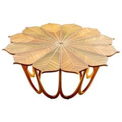 Twelve Leaf Resin Table by Michael Hurwitz