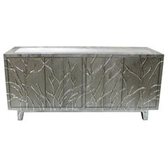 Twig Credenza in White Metal