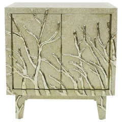 Twig Nightstand in White Metal