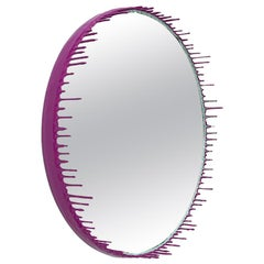 Two-Tone Resin Drip Mirror in Celadon and Fuchsia by Elyse Graham