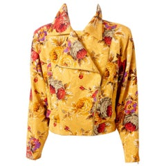 Ungaro Floral Pattern Bomber Jacket