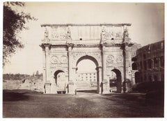 Arch of Costantine in 1870  - Ancient Albumen Photo 1870