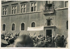 Mussolini Greets The Crowd - Vintage Photo - 1935