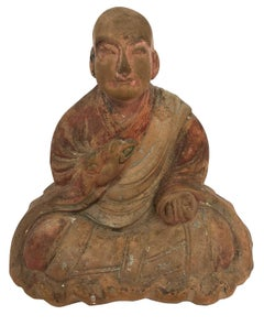Great Japanese Monk Kukai - Japanese Buddhist Monk - Pottery