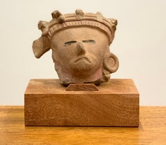 Head Fragment - Remojadas Culture - Classic Veracruz Culture 100 BCE to 800 CE