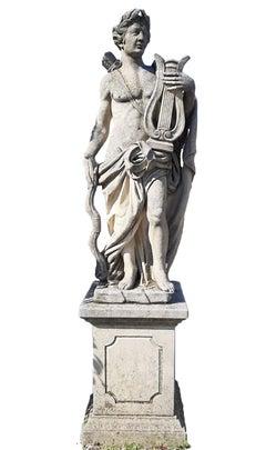 Italian Stone Garden Sculpture of Roman Mythological subject Apollo
