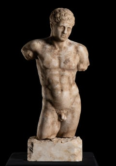 Torso Sculpture of Doryphoros as a Torso After the Greek Original by Polykleitos