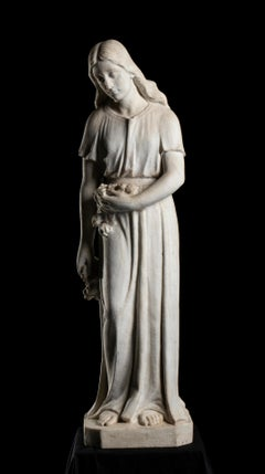 White Marble Sculpture of Spring After the School of Orazio Marinali