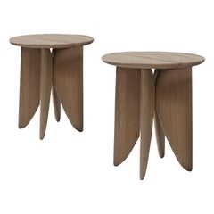 V, White Oak Stool Set from Collection Noviembre by Joel Escalona