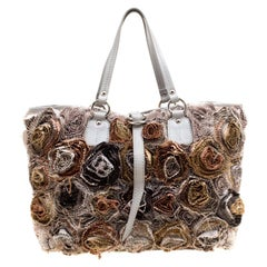 Valentino Gery Fabric and Leather Flower Tote