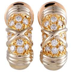 Van Cleef & Arpels 0.50 Carat Diamond and 18 Karat Yellow Gold Clip-On Earrings