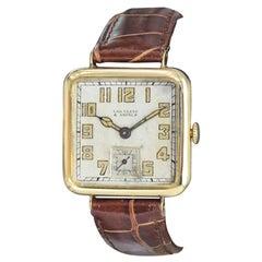 Van Cleef & Arpels 18 Karat Yellow Gold Art Deco Manual Wind Watch, circa 1930s