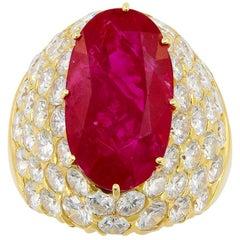 Van Cleef & Arpels Burma No-Heat Ruby Diamond Ring