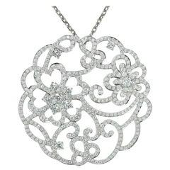 Van Cleef & Arpels Dentelle Diamond White Gold Neckalce