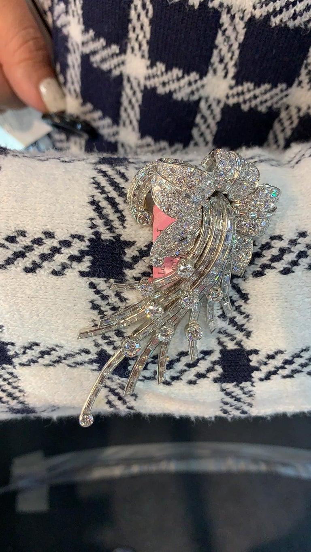 Van Cleef & Arpels Diamond Flower Brooch 2