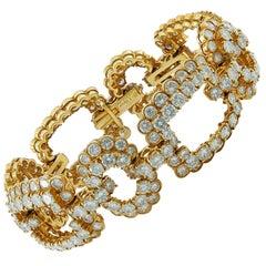 Van Cleef & Arpels Diamond Gold Link Bracelet