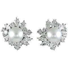 Van Cleef & Arpels Diamond, Pearl Earrings