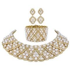 Van Cleef & Arpels Diamond, Pearl Necklace Suite