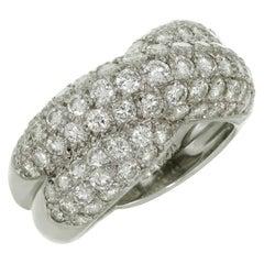 Van Cleef & Arpels Entrelacs Diamond White Gold Ring