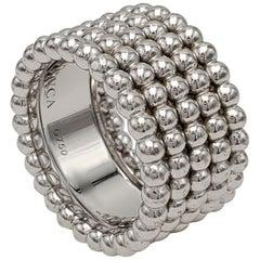 Van Cleef & Arpels Perlée White Gold Ring