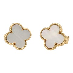 Van Cleef & Arpels 'Vintage Alhambra' Mother of Pearl Earrings