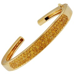 Van Cleef & Arpels Yellow Sapphire Cuff Bangle Bracelet