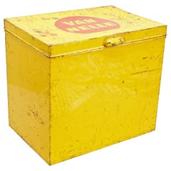 Van Nelle Yellow Metal Tea Box by Jacques Jongert, circa 1930