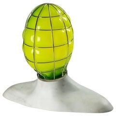 Venini Musa Glass Sculpture Light in Green by Fabio Novembre