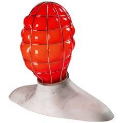 Venini Musa Glass Sculpture Light in Red by Fabio Novembre