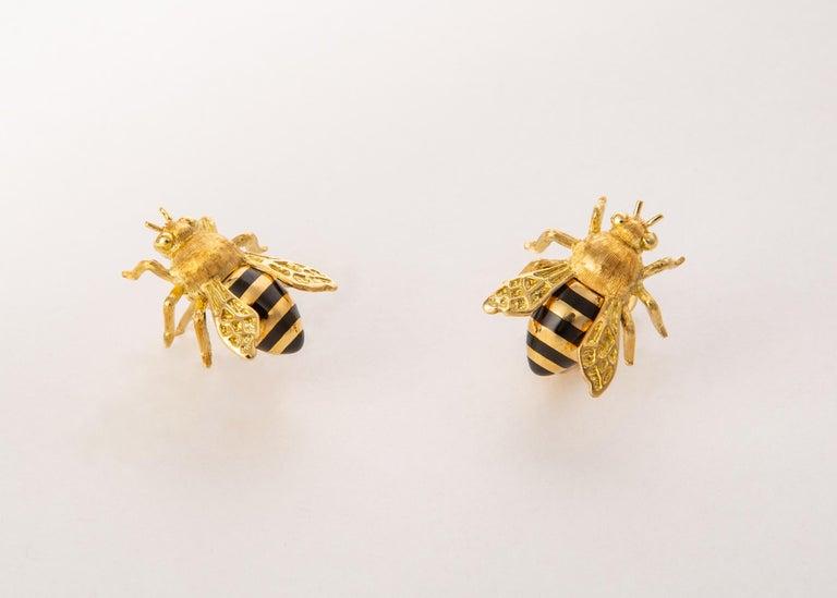 Contemporary Verdura Honeybee Earrings For Sale