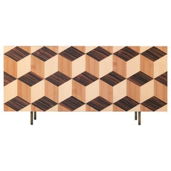 Veronese Contemporary Sideboard in Ashwood and Inlayed Doors