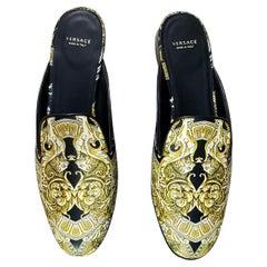 VERSACE BAROQUE MULE Sandals 36.5 - 6.5, 40.5 - 10.5