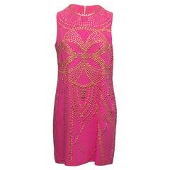 Versace for H&M Hot Pink Sleeveless Studded Dress
