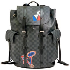Very Rare Louis Vuitton Special Edition Christopher PM Damier Graphite Backpack