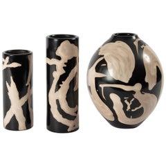 Vestige 09 Contemporary Peruvian Ceramic Vessel in Smoked Terracota Finish