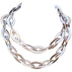 Vhernier Doppio Senso Diamond 18 Karat Necklace