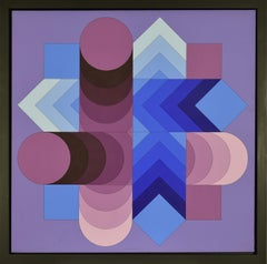 """TSALOKA-2"" by VICTOR VASARELY - Abstract, Contemporary, Op Art, Acrylic"