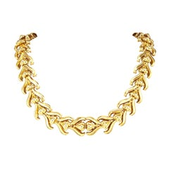 Victorian Yellow Gold Link Necklace Bracelets