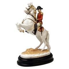 Vienna Augarten Horse Courbette Spanish Riding School, Albin Döbrich Model, 1595