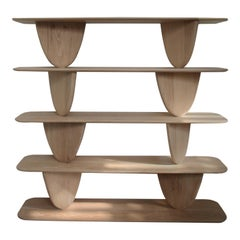 VIII, White Oak Bookshelf from Collection Noviembre by Joel Escalona