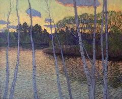 Over the Pond, Evening Light